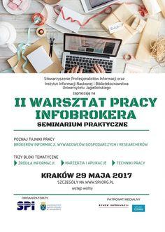 Już niedługo II Warsztat Pracy Infobrokera! Zapraszamy :) #informacja #zarzadzanieinformacja #infobroker