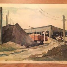 Endel Palmiste! Akvarell, 1958a! Sotsrealism! Signeeritud! Socialist Realism, Painting, Art, Art Background, Painting Art, Kunst, Paintings, Performing Arts, Painted Canvas