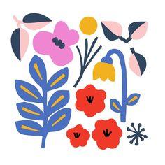 "Myriam Van Neste on Instagram: ""🌸 #myriamvannesteillu"" Art And Illustration, Floral Illustrations, Abstract Shapes, Abstract Art, Fabric Stamping, Art Graphique, Botanical Art, Background Patterns, Graphic"