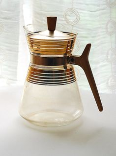 Vintage Mid Century Glass Carafe
