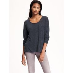 c060672feb9498 Old Navy Womens Linen Blend Boyfriend Tee ($17) ❤ liked on Polyvore  featuring tops