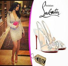 Gourgeoss Haifa wehbe wearing Christian louboutin shoes love it