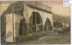 POSTAL FOTOGRAFICA DE LERIDA-VISTA DE UNA DE LAS TORRES DEL CAMINO DE GRENYANA INUNDACION