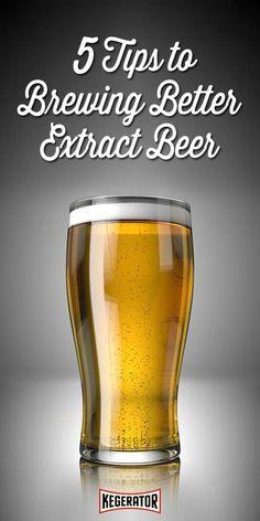 5 Tips to Brewing Better Extract Beer Tips & Tricks: How to Brew Better Extract Beer Brewing Recipes, Homebrew Recipes, Beer Recipes, Coffee Recipes, Brewing Equipment, Home Brewing Beer, How To Make Beer, Wine And Beer, Best Beer