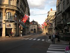 Dijon, France..we were here on Bastille Day and everybody was in Paris so the streets were very empty.
