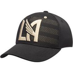 0c5886cb54540 Men s LAFC adidas Black Gold 2018 Authentic Team Structured Flex Hat