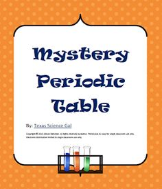Freebier introducing and familiarizing students with the free science lesson mystery periodic table go to the best of teacher urtaz Image collections