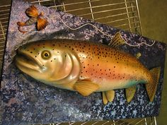 Another trout cake - this one is airbrushed fondant