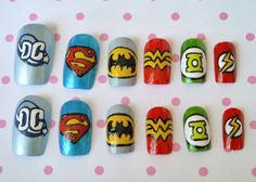 Dc Comic ~ Nail art