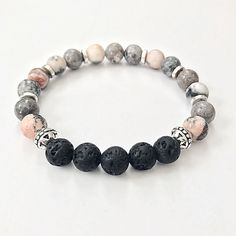 Excited to share the latest addition to my #etsy shop: Essential Oil Diffuser Bracelet, Lava Bead Aromatherapy Bracelet, Healing Stones Bracelet, Yoga Gemstone Bracelet