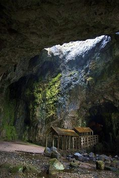 Smoo Cave, Scotland #travel #Scotland