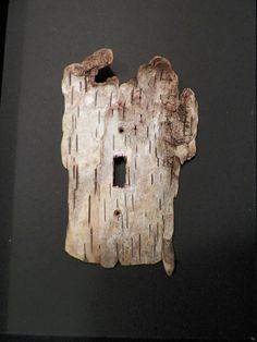 Birch bark drift wood light switch cover.