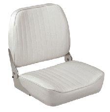 White Folding Back Boat Seat