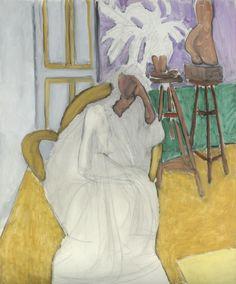 Figure Assise Et Le Torse Grec (La Gandoura), 1939 #matisse
