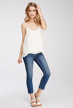 FOREVER 21 Low-Rise Ankle Jeans http://www.shopstyle.com/action/loadRetailerProductPage?id=470730149&pid=uid3601-7931801-85 #fashion #style #beauty #hair #makeup #accessories #clothes #shoes #jewelry #jewellery #fashiontrends #love #like #winter #winterclothes #winteraccessories #winterfashion #winterstyle #winteroutfits #winteroutfitideas #outfit #outfitideas #outfitidea #ootd #outfitoftheday #outfitinspiration #casualoutfit #edgyoutfit #sandals
