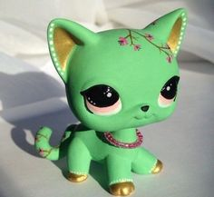 Littlest pet shop * Arizona Bloom * Custom Hand Painted LPS Short hair Cat OOAK #Hasbro