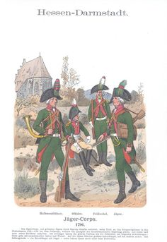 Vol 09 - Pl 03 - Hessen-Darmstadt. Seven Years' War, Holy Roman Empire, Cacciatore, Austro Hungarian, French Revolution, Napoleonic Wars, Old Things, German, Military Uniforms