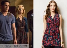Caroline Forbes (Candice Accola) wears this pintuck floral tunic in this episode of The Vampire Diaries. It is the Anthropologie Nathalie Lete Wonderland Silk Tunic. Unfortunately it is unavailable All Outfits from The Vampire Diaries Other Outfits from The Vampire … Continue reading →