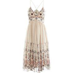 Vanessa Bruno Printed silk strappy dress (43.100 RUB) ❤ liked on Polyvore featuring dresses, vestidos, short dresses, robes, slimming dresses, sleeveless dress, pink mini dress, sleeveless midi dress and loose dress