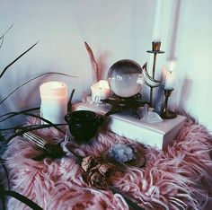 Im definitely missing a crystal ball from my altar. … Im definitely missing … Magick, Witchcraft, Images Esthétiques, Witch Room, Witch Decor, Altar Decorations, Decoration Inspiration, Witch House, Witch Aesthetic