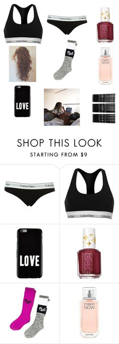 """""""Jus chillin✌️"""" by amarianamichelle ❤ liked on Polyvore featuring Calvin Klein, Givenchy, Essie, Victoria's Secret, Monki, chillin and valentinesday2016"""