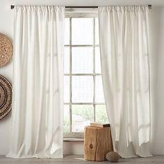 Linen Cotton Curtain - White #westelm