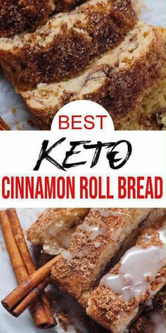 Don't pass up this cinnamon roll bread. BEST low carb cinnamon roll loaf bread recipe. Tasty & delish homemade cinnamon roll bread for ketogenic diet. Easy keto bread w/ icing. Great low carb desserts, low carb breakfast or low carb snacks. Simple & quick low carb recipes everyone will love. Sugar free & gluten free cinnamon roll loaf bread. Tasty & delish low carb recipes to make today. Keto Postres, Cinnamon Roll Bread, Gluten Free Cinnamon Rolls, Healthy Cinnamon Rolls, Bolo Fit, Best Keto Bread, Comida Keto, Dessert Aux Fruits, Low Carb Sweets
