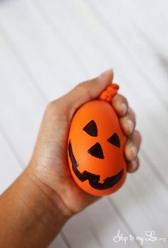 DIY Jack-o-lantern Stress Ball and Fidget Tool for Kids