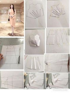 """Новости """"From design to pattern: from the basic dress shape to drape to pattern"""" Techniques Couture, Sewing Techniques, Pattern Cutting, Pattern Making, Dress Sewing Patterns, Clothing Patterns, Sewing Clothes, Diy Clothes, Sewing Tutorials"""