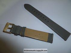 Junghans Max Bill Lederband 17mm grau Schließe vergoldet - Uhren Max Bill, Junghans, Belt, Accessories, Omega Watch, Leather Cord, Watches, Grey, Belts