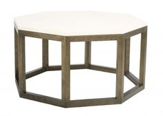 The Octagon Round Coffee Table in painted bronze from Salvations Architectural Furnishings.