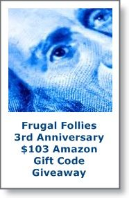 Announcement for Frugal Follies 3rd Anniversary Giveaway - Blogger Opp! | ♥Lisa♥ - Queen of Random