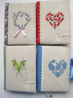 Cross stitch hand made notebook .
