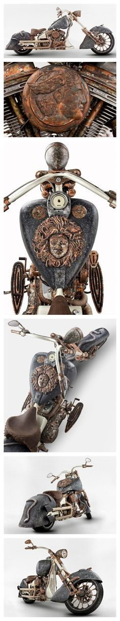 World's Most Expensive Motorcycle? A bike builder of TT Custom Choppers in Ankara, Turkey named Tarhan Telli has designed a bike that is being touted as the world's most expensive motorcycle.  The bike's design was inspired by the Greek Mythological figure Medusa and took over a year to build.  The motorcycle weighs over 700 pounds and incorporates over $1 million dollars worth of gold into the design.