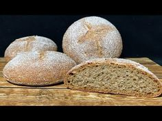 Pan 100% INTEGRAL | La receta que funciona - YouTube Recipes, Youtube, Bread Recipes, Pastries, Cookies, Pizza, White Bread, Bread Types, Recipies