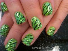 Green Zebra Rock Star Nails