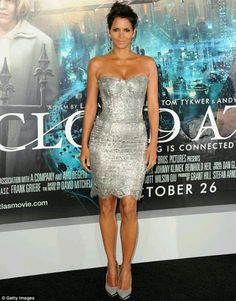 Shimmering in Silver/ Halle Berry at Cloud Atlas Premiere