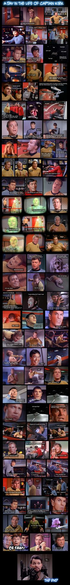 Star Trek: The Original Series by ~Walker82 on deviantART - a day in the life of captain kirk