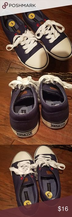 Tommy Hilfiger Boys Casual Shoes Very cute boys navy blue, brand new, never worn. Size 3. Tommy Hilfiger Shoes Sneakers