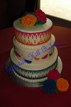 Mexican Themed Wedding Cake by sweetishhillbakery, via Flickr