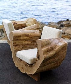 Awesome Outside Seating Ideas You Can Make with Recycled Items ♂ The Organic living Eco Friendly Reclaimed Wood Seating Furniture Design, Cocoon Chair by .♂ The Organic living Eco Friendly Reclaimed Wood Seating Furniture Design, Cocoon Chair by . Log Furniture, Garden Furniture, Living Room Furniture, Furniture Design, Outdoor Furniture, Furniture Ideas, Tree Stump Furniture, Recycled Furniture, Unique Furniture