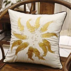 "PRODUCT Decorative Pillow DIMENSIONS 18"" X 18"" PILLOW COVER Yellow/White/Multi-Color; 100% Polyester; Embroidered PILLOW INSERT Inserts are available from the most commonly used Polyester to Luxury Synthetic Down and Down Feather insert. All inserts are 100% made in the USA with the best quality guaranteed PACKAGING Pillow Cover is packaged with either transparent plastic packaging bag or tissue paper sheet; Pillow Insert is packed with plastic bag SHIPPING INFORMATION Product ships out…"