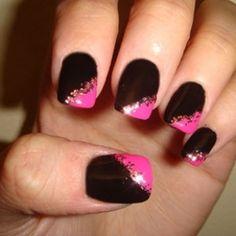 Simple Dark Nail Art Ideas | Makeup Tips and Fashion