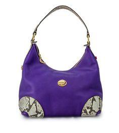 @ Ritzy Bagz ♥ Kožená kabelka ALBINA zdobená hadí kůží ♥ Leather handbag with python and Swarovski