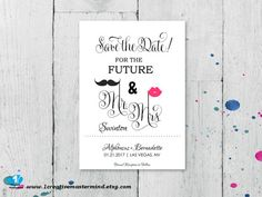 DIY Fun Save the Date Template Mr and Mrs by 1CreativeMastermind