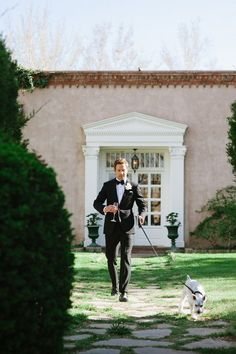 We love a groom in a tux! Tux: Spencer Hart. Photo: Turn Loose the Art