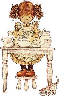 Immagini Sara Kay e Holly Hobbie Sarah Key, Holly Hobbie, Vintage Cards, Vintage Images, Dibujos Cute, Illustrations, Australian Artists, Cute Illustration, Vintage Children