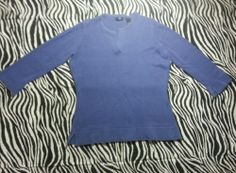 ~ Gap Juniors Blue V Necked Light Sweater Shirt Top Size S ~EUC