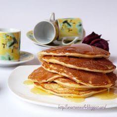 Clatite americane (Pancakes)Clipe Dulci Jacque Pepin, Sweet Tooth, Pancakes, Snacks, Eat, Cooking, Breakfast, Recipes, Food