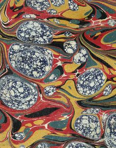 Vintage 19th c. marbled paper, Gloster pattern (24) by peacay, via Flickr